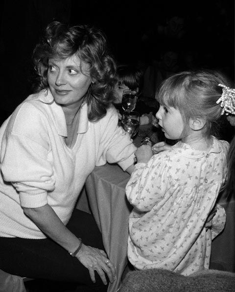 Susan Sarandon With Her Daughter, Eva Amurri...The Sultry Actresss and Her Oh, So Sweet Young Daughter A Couple of Decades Ago...Precious Shot!!
