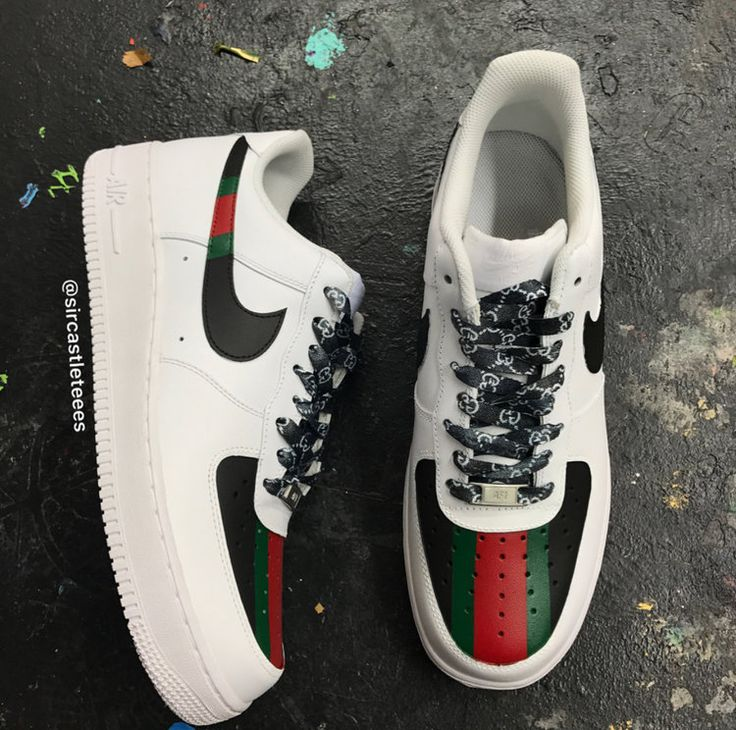 Gucci Force 1's (With images) Custom nike shoes, Custom