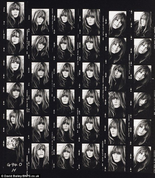 David Bailey - Francoise Dorleac - contact sheet