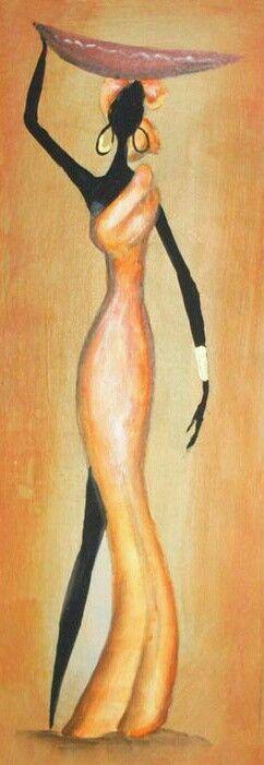 Schilderen Afrikaanse vrouwen