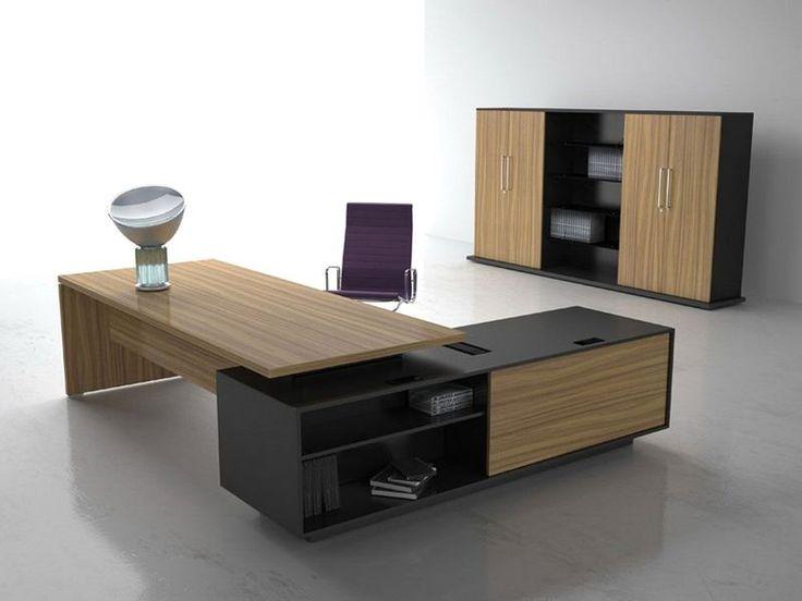 L dönüşlü ahşap malzeme ile üretilen büro mobilyası. Yan etajeri özel dizyn edilmiştir. Dış kısımdaki rafları oldukça kullanışlı. Üretilen yönetici masası takımı.