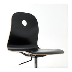 IKEA - VÅGSBERG / SPORREN, Swivel chair, white,  , , You sit comfortably since the chair is adjustable in height.