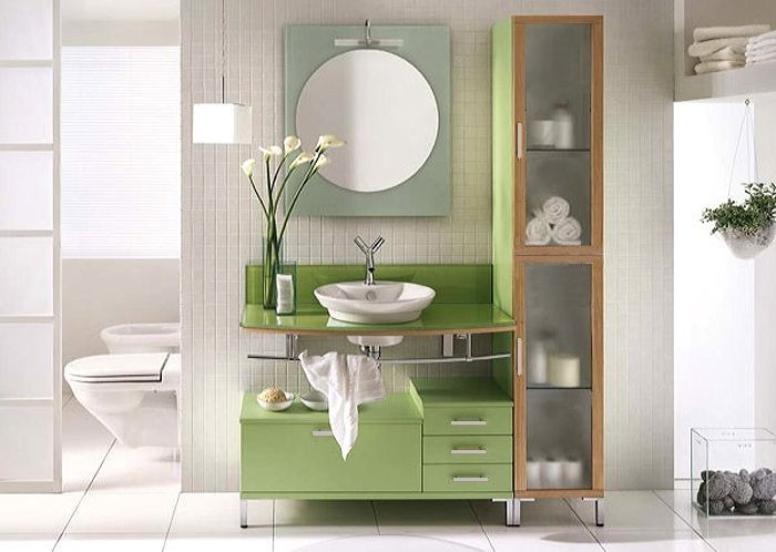 Bathroom Vanity - Modern Bathroom Vanity Set - Single Sink - Lime Light - 40""