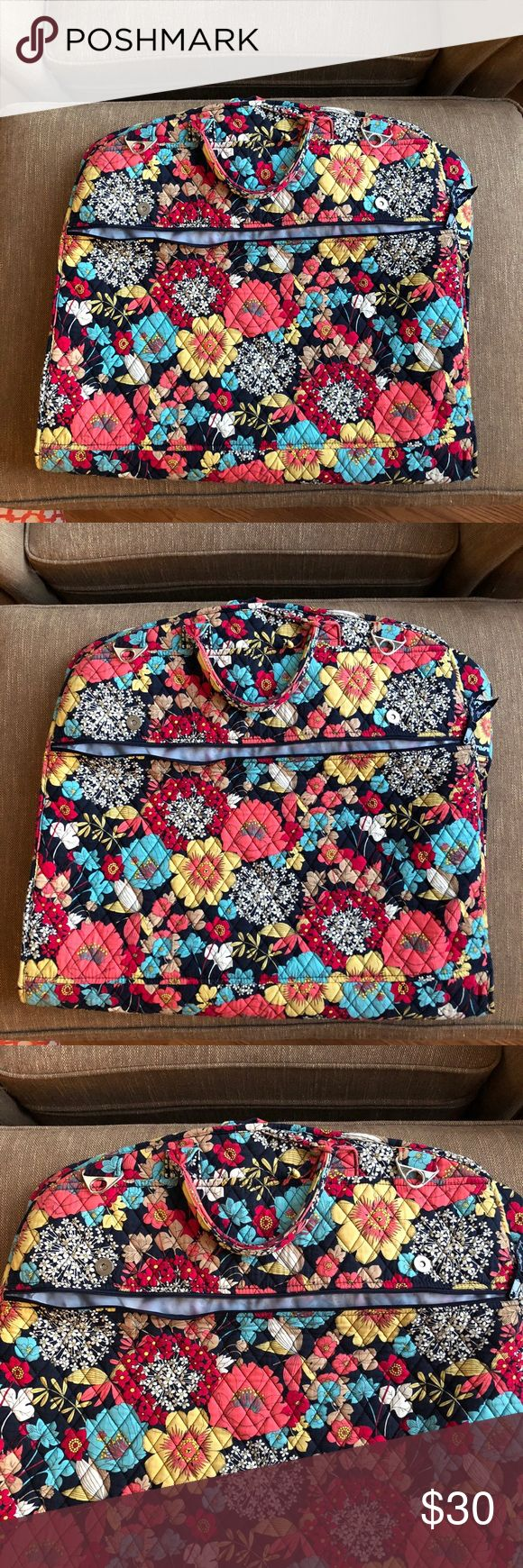 Vera Bradley Garment Bag Vera Bradley Garment Bag - Exterior zipper pocket as well. Excellent condition Vera Bradley Bags Travel Bags