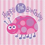 Ladybug First Birthday Party Supplies - Walmart.com