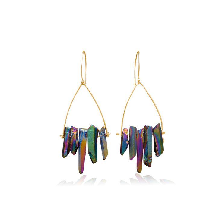 Rainbow Crystal Quartz earrings/ Jewelietta