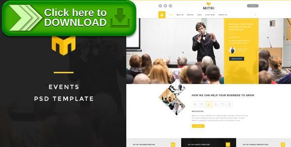 [ThemeForest]Free nulled download Mitri Events - Events & Conference PSD Template from http://zippyfile.download/f.php?id=21792 Tags: booking, conference, event management, exhibition, fair, html, listing, multiple events, registration, tickets