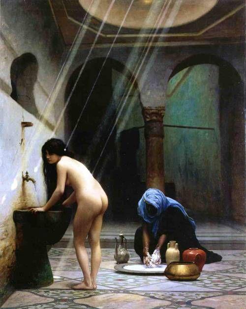 Jean-Léon Gérôme - A Moorish Bath Turkish Woman Bathing No 2