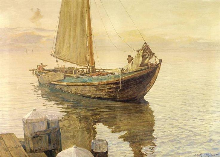 Michal Wyworski - 1916  Lodz_rybacka.jpg 800×572 pixels