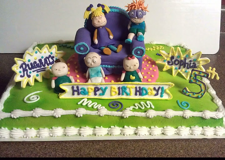 25 best rugrats cakes images on pinterest recipes for Angelica cake decoration