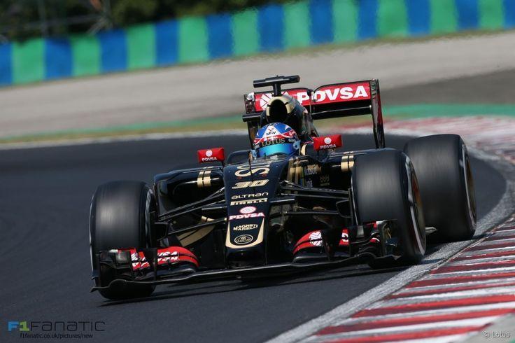 Jolyon Palmer, Lotus, Hungaroring, 2015 Friday practice