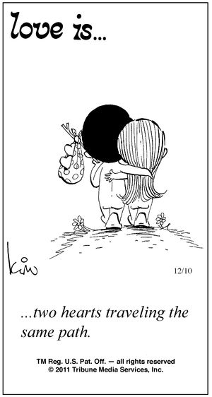 .traveling the same path~ awww when I was a kid I loved these cartoon drawings