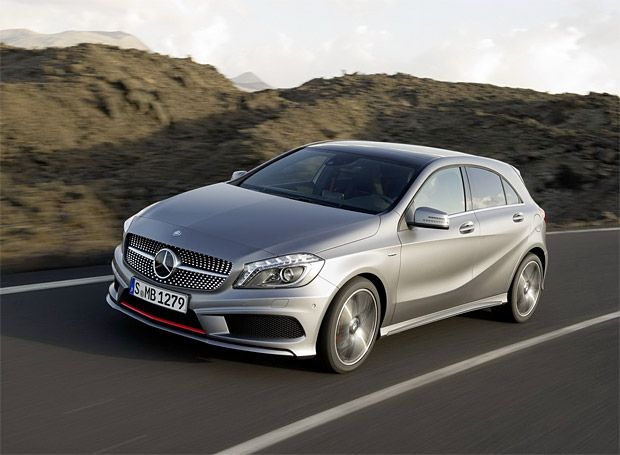 2013 Mercedes A-Class. Small but sharp and coming to the US soon.
