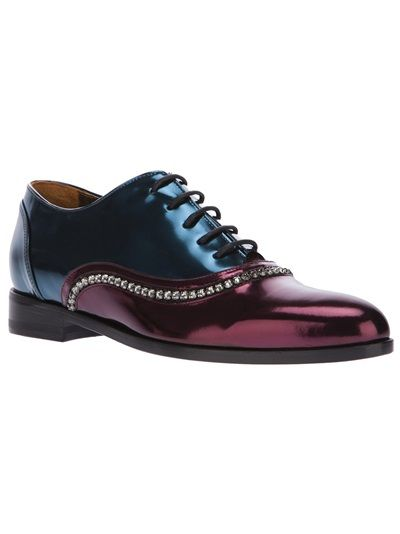 Lanvin Metallic Embellished Oxfords quality original clearance online amazon free shipping Cheapest official site mPOnLf