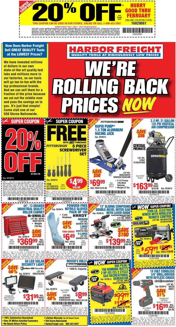 Harbor Freight Deal! Harbor freight coupon, Harbor