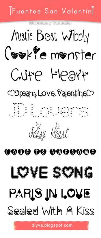 ¿Ya descargaste el pack de fuentes de San Valentín? Pues si todavía no lo descargas, te dejo el enlace. Es grauito e incluye 10 fuentes ideales para alguna edición, tarjeta o postal . #SanValentin #fonts #ValentinesDay2015