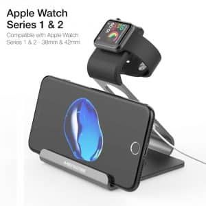 2. Mercase Apple Watch Charging Stand, Supports Night Mode