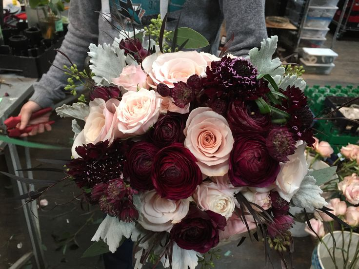 Marsala And Blush Wedding Bouquet By Asiel Design Marry