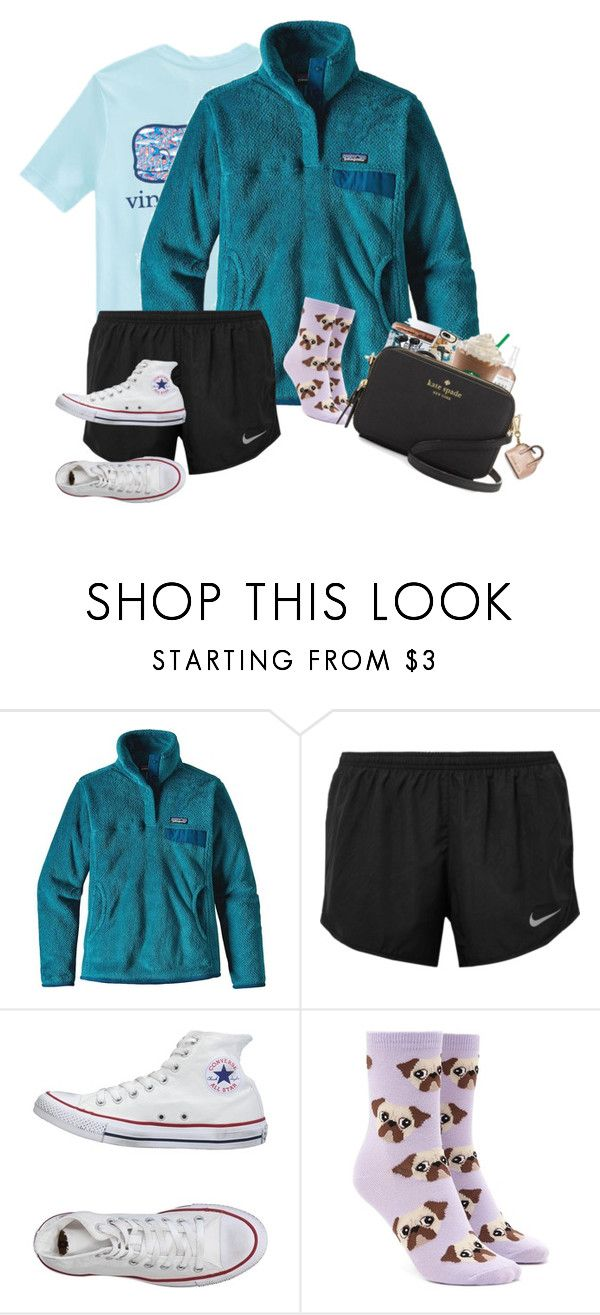 """""""similar ootd"""" by prepstermaddy ❤ liked on Polyvore featuring Vineyard Vines, Patagonia, NIKE, Converse and Forever 21"""