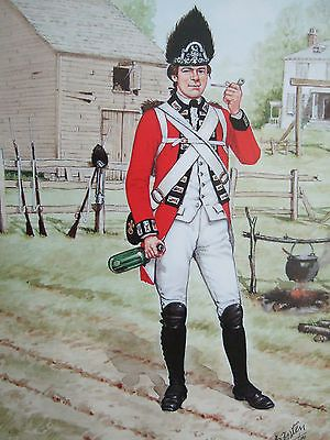 A Fusilier of the American Revolutionary War.