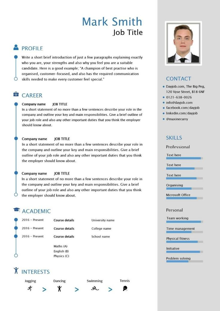 free downloadable cv template examples career advice how to write new resume international