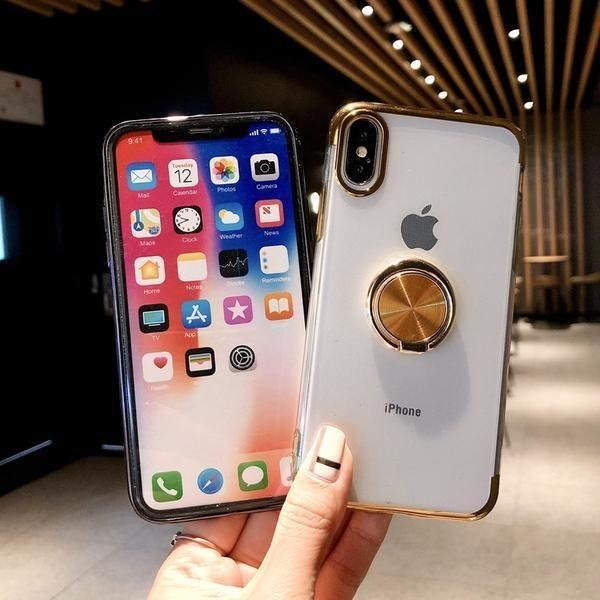 coque iphone 7 plus transparente anneau