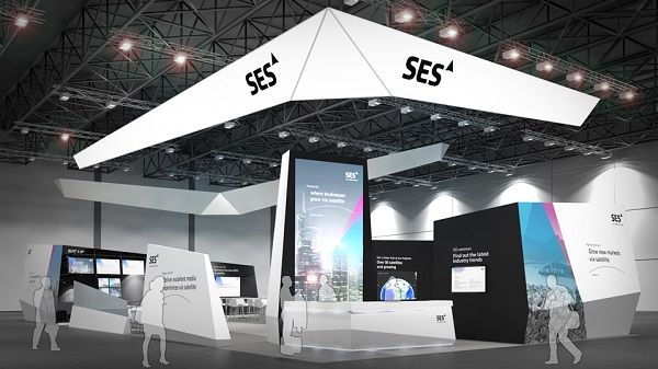Exhibition Booth Installation : Ses booth won exhibition stand design award at ibc