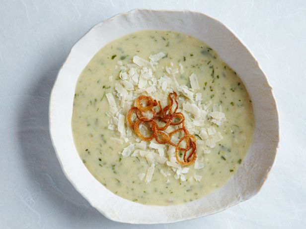 Recipe of the Day: Ina's 5-Star Roasted Potato Leek Soup Ina's dreamy potato soup is all in the layers. Roasting potatoes and leeks in the oven before pureeing them instills an earthy heartiness, while a dose of cream and a dash of creme fraiche brings on a tart, velvety richness. Before you sink your spoon in, sprinkle each bowl with crispy shallots and Parmesan.