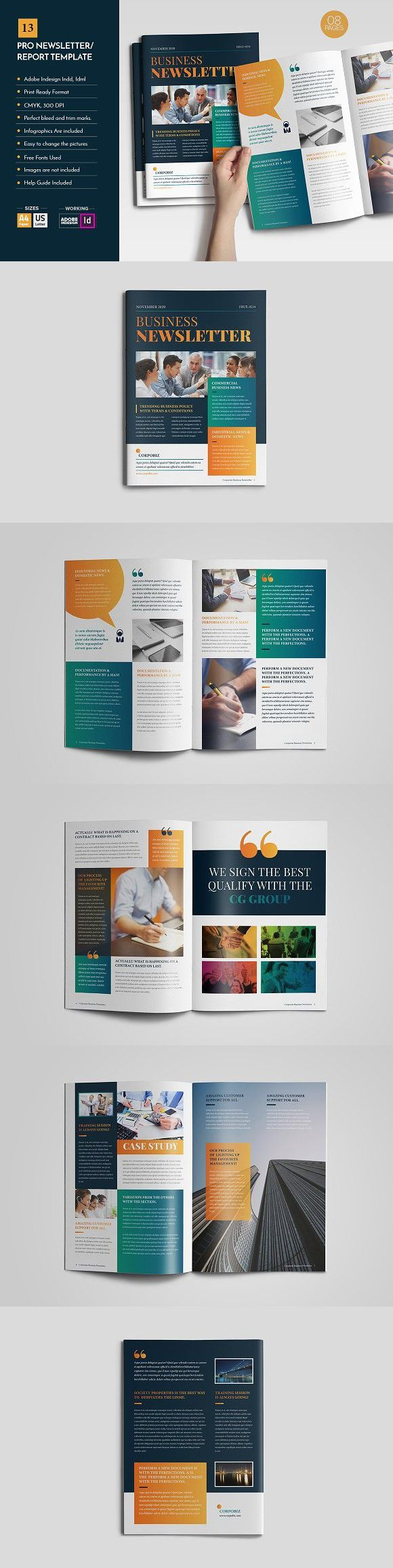Professional Newsletter Template V12. Newsletter Template. $10.00 ...