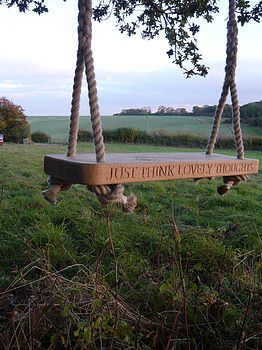 I love the Peter Pan quote, and on a swing - my favorite thing to do in the summer...