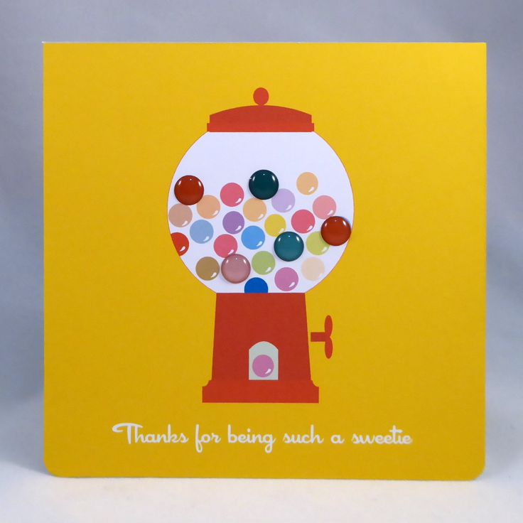 Bright and cheerful lolly jar card-Thanks for being such a