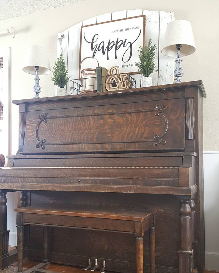 """3,689 Likes, 182 Comments - JoEllen (@therusticfarmhouse) on Instagram: """"I love my piano but I can't decide if I should keep her or let her go.. . . I spent quite a few…"""""""