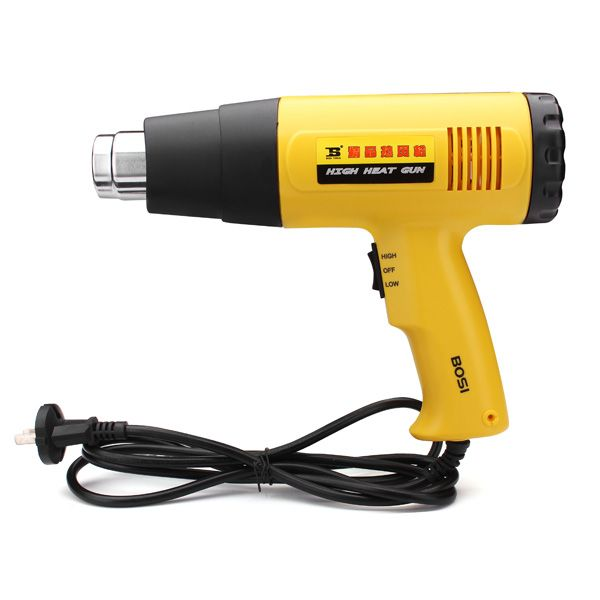 Big sale, NOW!!! !!! Original price :$35.86 Clearance price :$26.11 Quantity Limited  Description :  220V BOSI Digital Hot Air Heater Gun Blower BS471500  Brand : BOSI Model : BS471500 Voltage : 220V Rated Output Power : 1000-1500W Application : The gun can be used in specialized industry including electrical, packing, printing, plastic, auto repairing, advertisement making, plating equipment, biology and chemical, machine, garment, building and medical treatment f