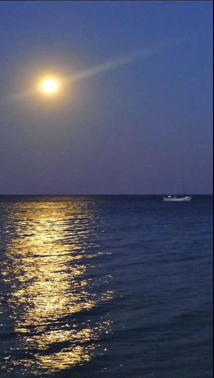 Moonlight in Datca, Turkey.