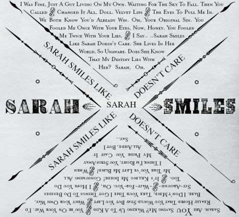 """""""Sarah Smiles"""" by Panic! At the Disco.... Basically my theme song! <3"""