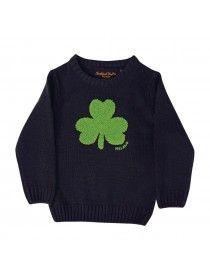 Navy Round Neck Ireland Kids Sweater