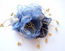 """Floare de par sau brosa """"Ceva albastru """""""
