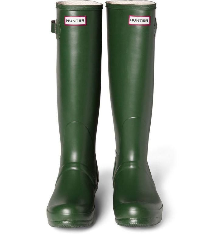 HUNTER ORIGINAL MEN'S TALL WELLINGTON RAIN BOOTS IN GREEN WELLIES SIZE 13M (NWT) #Hunter #RainbootsSnowWinter