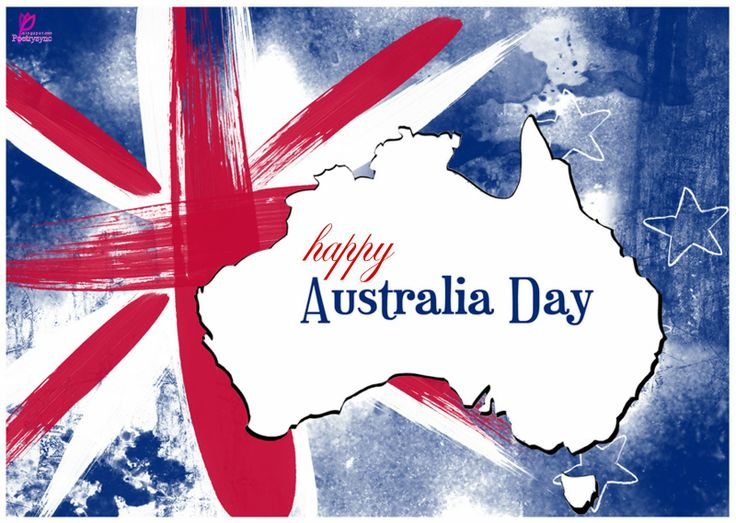 Happy Australia Day 26 January Wishes on Australia Flag and Map HD Wallpaper