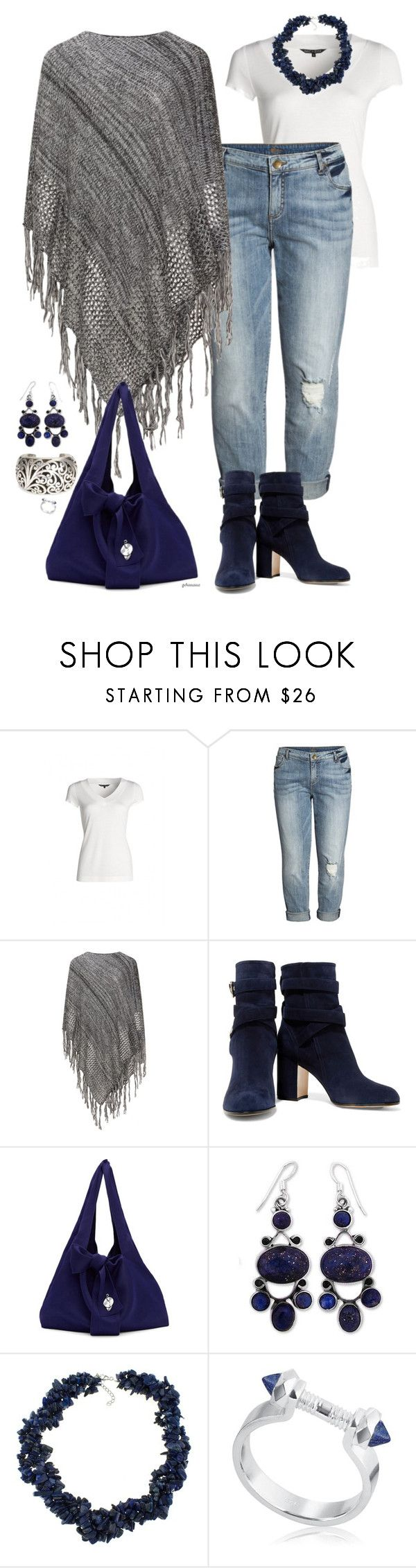 """Lapis blue- plus size"" by gchamama on Polyvore featuring NIC+ZOE, KUT from the Kloth, Gianvito Rossi, 3.1 Phillip Lim, NOVICA, Lois Hill, Pearlz Ocean and Edge of Ember"
