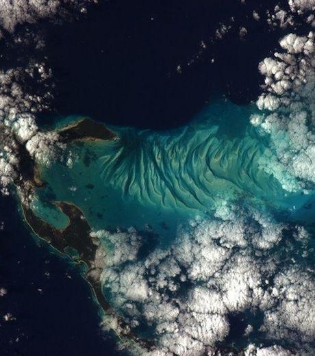 La Terre vue de la Station spatiale internationale : les Bahamas vus depuis l'espace