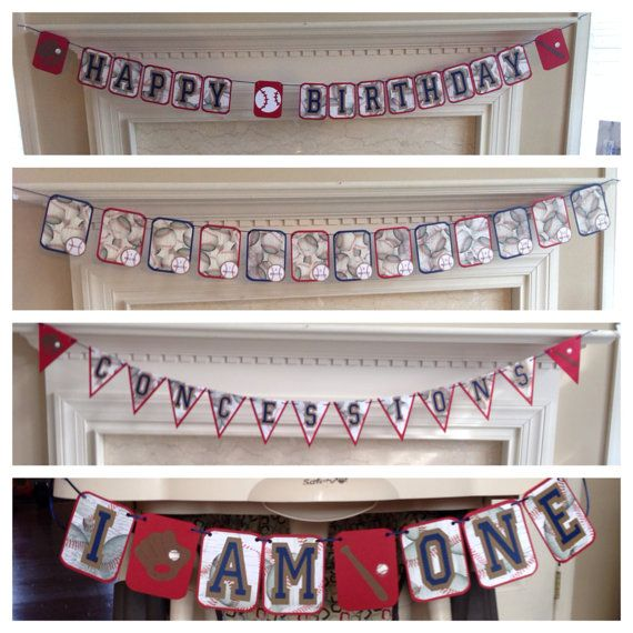 Vintage Baseball First Birthday Party Party Pack by HandmadeByVee, $85.00