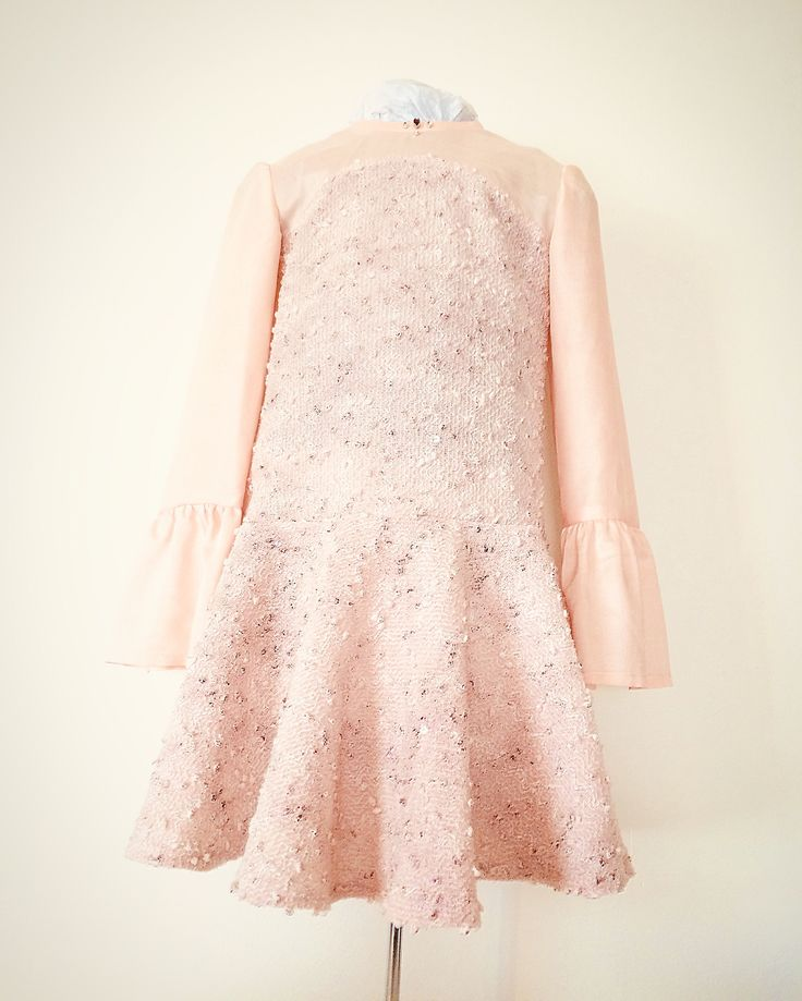 Girl dress with long sleeves, dress for girls made of lace, holiday dress, dress with ruffles