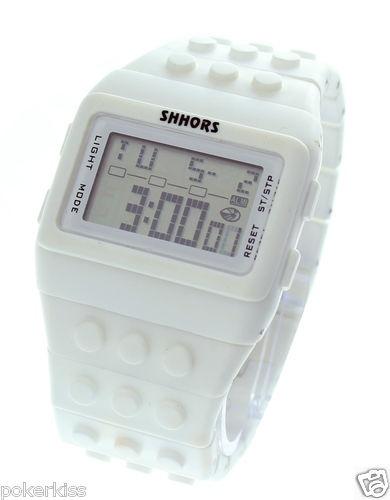 Shhors Unisex Block Constructor Retro Digital Fasion LED watch Personalise color   eBay $17.11 incl postage