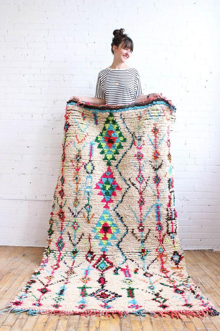 "Azilal Rugs, Handmade Carpet From Morocco, 3'10"" x 7'4"" – Marrakech. Baba Souk"