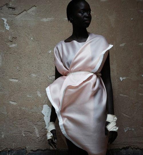 Omer Asim dress, designer from Sudan.