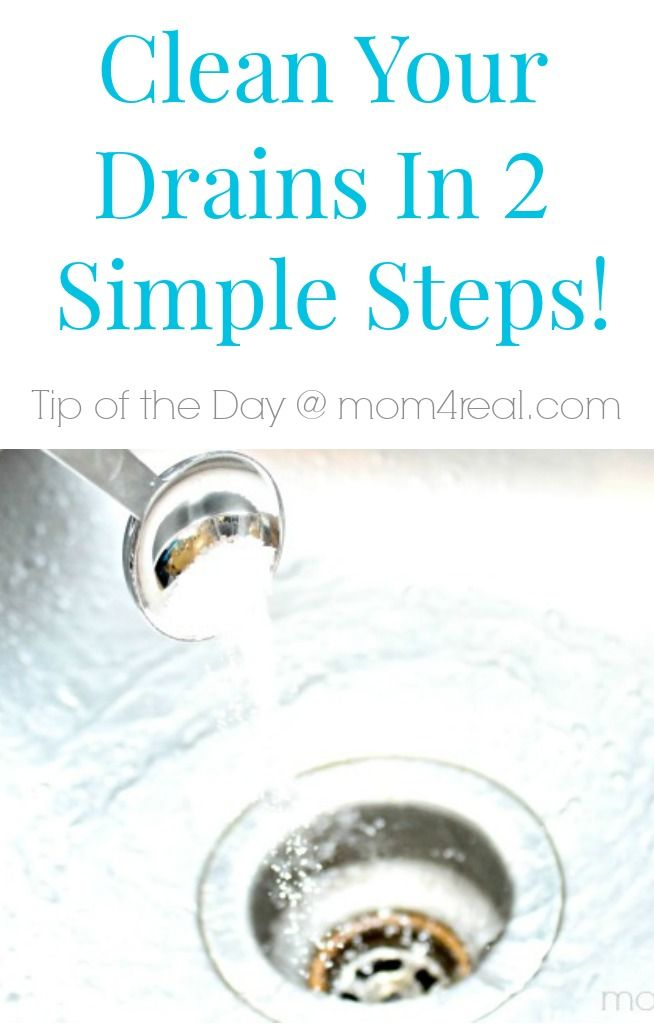 How to clean your drains with 2 simple steps and tons more tips and tricks at mom4real.com