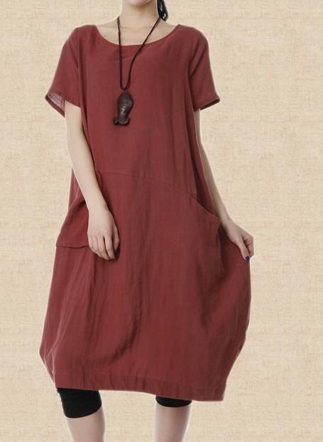 linen Maxi Dress women fashion Long dress