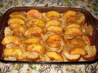 Overnight Peach French Toast. Huge, huge hit! I think it would work with any fruit as it's really just a basic overnight french toast casserole with peaches on top.