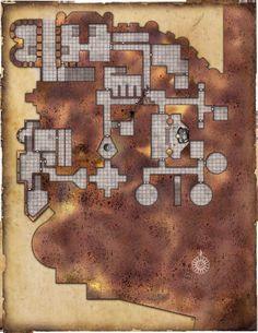 Um forte, um templo, um rio de lava.   O que poderíamos querer mais?     Depois de um pequeno hiato nas postagens com mapas, eis que ...